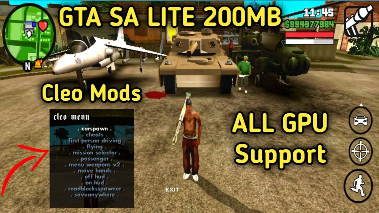 GTA San Andreas Lite Apk Mod Cleo Download