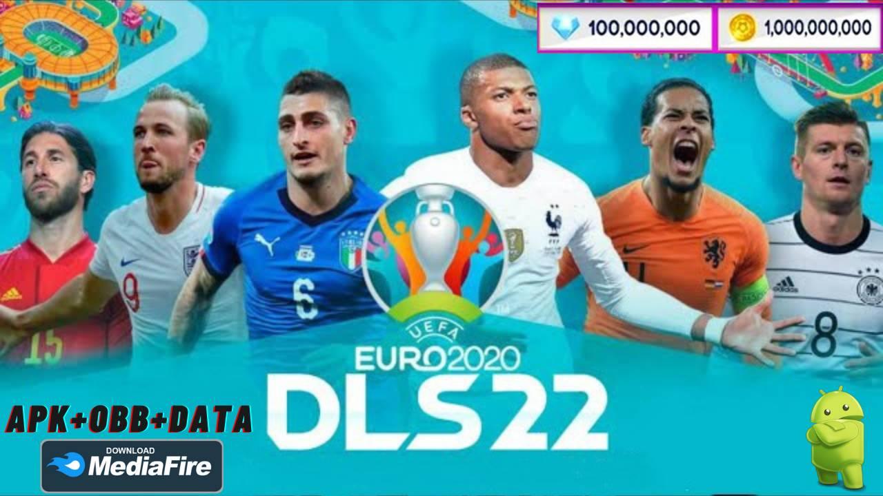 DLS 21 Mod Euro 2021 APK OBB Data Unlocked Download