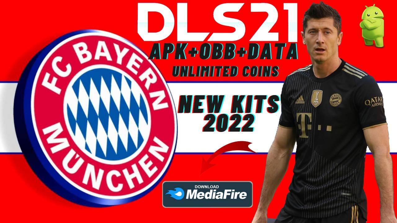DLS 21 Mod APK Data Bayern Munich Kits 2022 Download