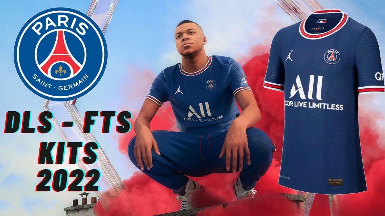 Paris Saint Germain PSG Kits 2022 DLS 21 Logo FTS