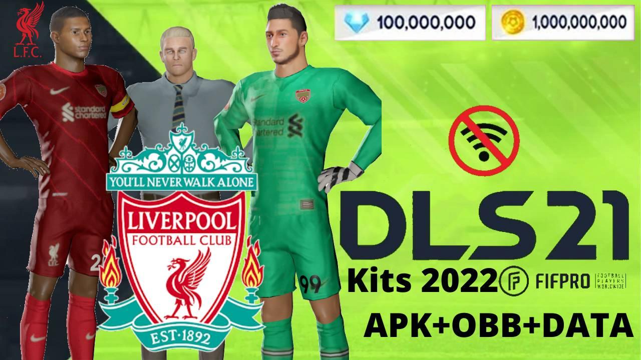 DLS 21 APK Mod Data Liverpool Kits 2022 Download